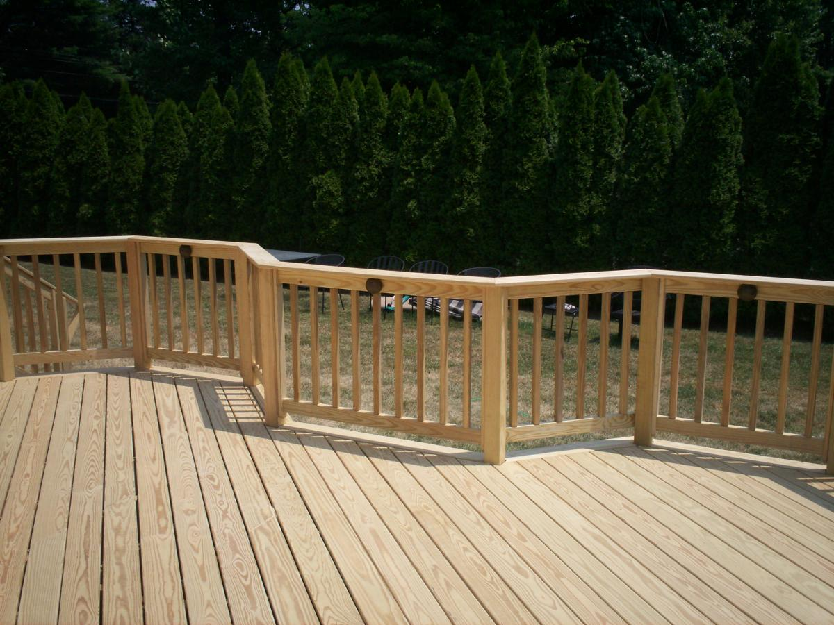 Pressure treated decking san diego deck builders for Non wood decking boards